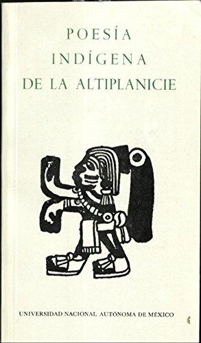 9780683617702: Poesia Indigena de la Altiplanicie