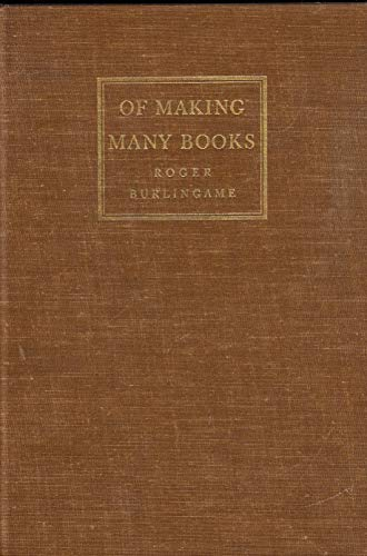 9780684100470: Of Making Many Books
