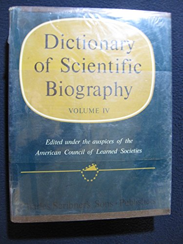 Dictionary of Scientific Biography, Vol. 4