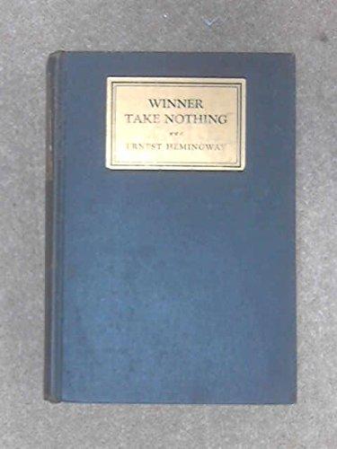 9780684102528: WINNER TAKE NOTHING