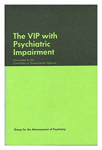 9780684132594: The VIP with psychiatric impairment