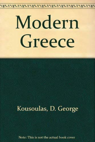9780684137322: Modern Greece;: Profile of a nation