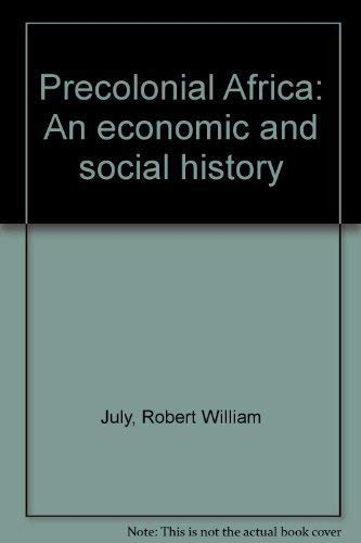 9780684143194: Precolonial Africa: An economic and social history
