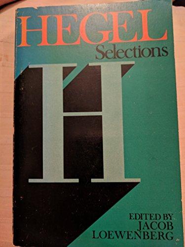 9780684143460: Hegel Selections