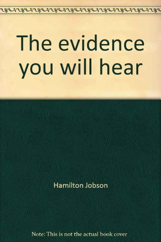 9780684144245: The evidence you will hear