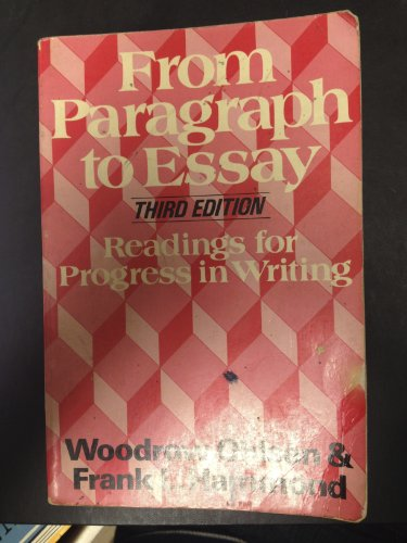 9780684148328: From paragraph to essay: Readings for progress in writing
