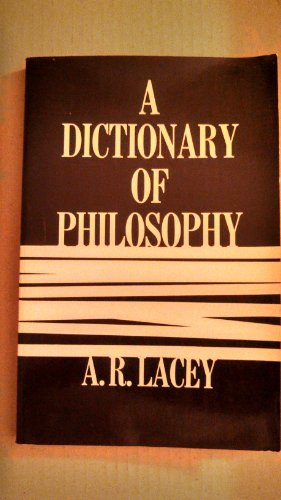9780684149325: A dictionary of philosophy