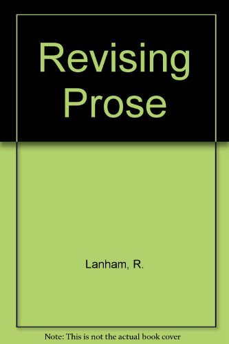 9780684159874: Revising Prose (Scribner English series)