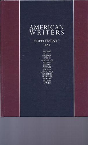 9780684162324: American Writers: Supplement 1, Part 1: A Collection of Literary Biographies