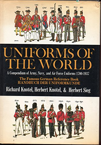 9780684163048: Uniforms of the World: A Compendium of Army, Navy, and Air Force Uniforms, 1700-1937