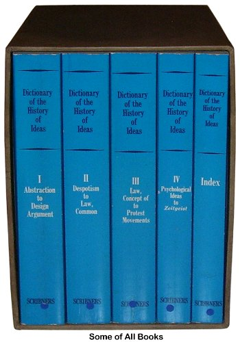 Dictionary of the History of Ideas: Volume I-IV and Index