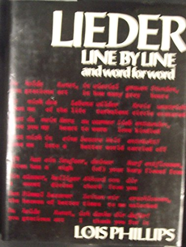 9780684164427: Lieder, Line by Line and Word for Word