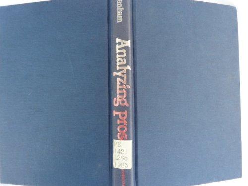 9780684178349: Analyzing Prose (Scribner English series)