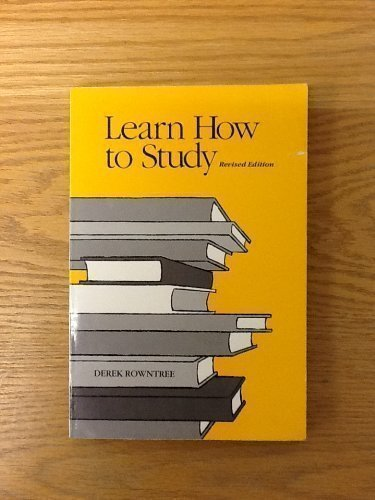 9780684178813: Learn How to Study: A Programmed Introduction to Better Study Techniques
