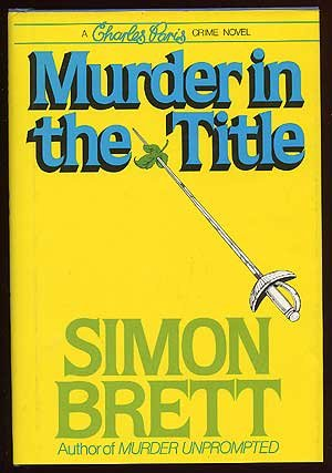 9780684178981: Murder in the Title