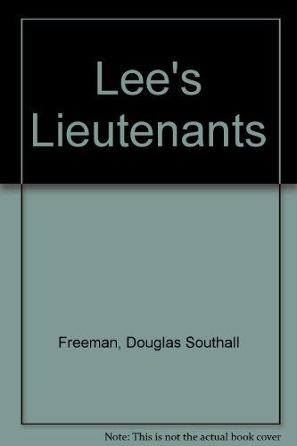 Lee's Lieutenants (0684179261) by Douglas Southall Freeman