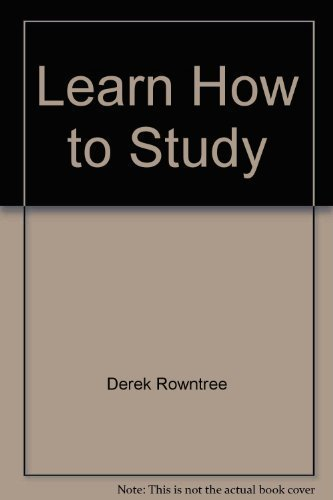 9780684179711: Learn How to Study: A Programmed Introduction to Better Study Techniques