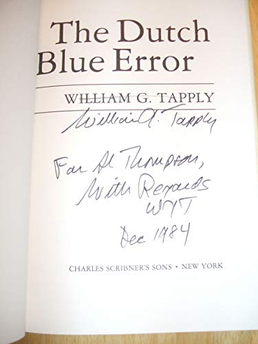 9780684182131: The DUTCH BLUE ERROR