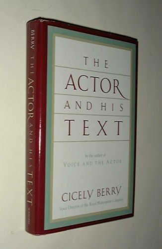 9780684189376: The Actor and His Text