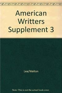 American Writers Supplement 3v1: Baechler, Lea; Litz, A. Walton