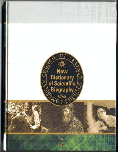 9780684313283: New Dictionary of Scientific Biography, Vol. 8: Index