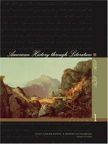 9780684314600: American History Through Literature: 1820-1870