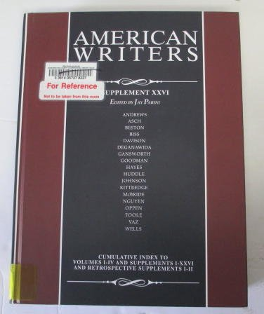 9780684325064: American Writers, Supplement XXVI: A Collection of Critical Literary and Biographical Articles That Cover Hundreds of Notable Authors from the 17th Ce