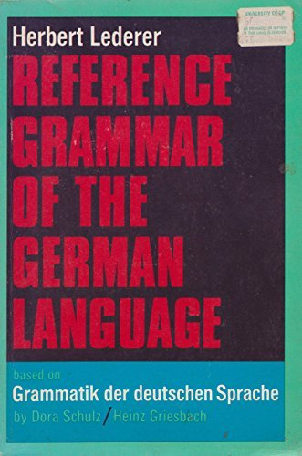 9780684413297: Reference Grammar of the German Language (English and German Edition)