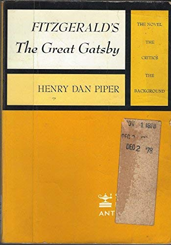 9780684414027: Fitzgerald's the Great Gatsby