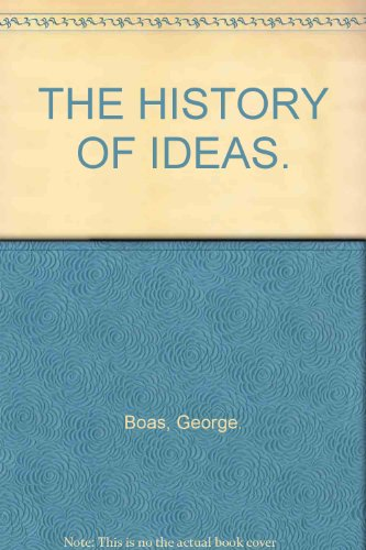 9780684717142: The History of Ideas
