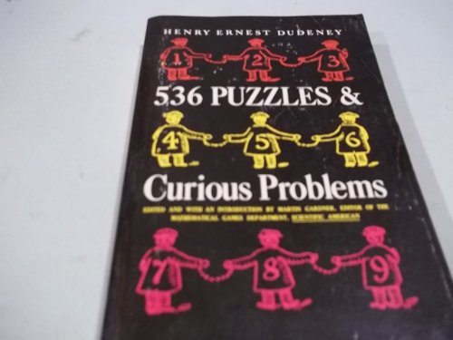 9780684717555: 536 PUZZLES & CURIOUS PROBLEMS (Five Thirty Six Puzz Prob SL 241)