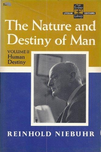 9780684718590: The Nature and Destiny of Man, Vol. 2: Human Destiny