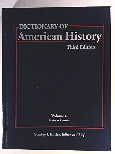 Dictionary of American History V6: Charles Scribners & Sons Publishing