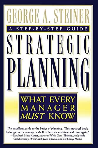 9780684832456: Strategic Planning
