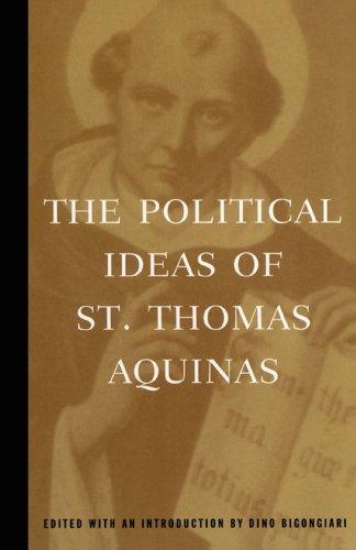 9780684836416: The Political Ideas of St. Thomas Aquinas (Hafner Library of Classics)