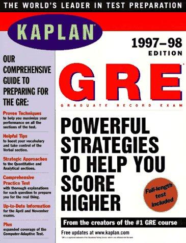 GRE 1997 98 (Serial): Kaplan, Stanley