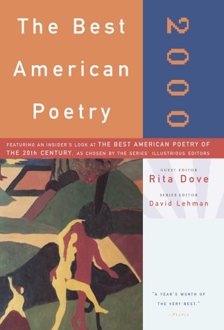 Stock image for Best American Poetry 2000 for sale by Better World Books