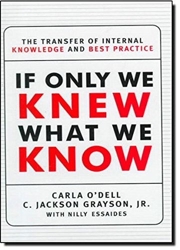 9780684844749: If Only We Knew What We Know: The Transfer of Internal Knowledge and Best Practice