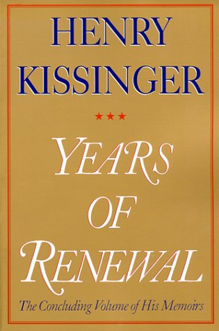 YEARS OF RENEWAL, THE CONCLUDING VOLUME OF HIS MEMOIRS ( Volume 3 )