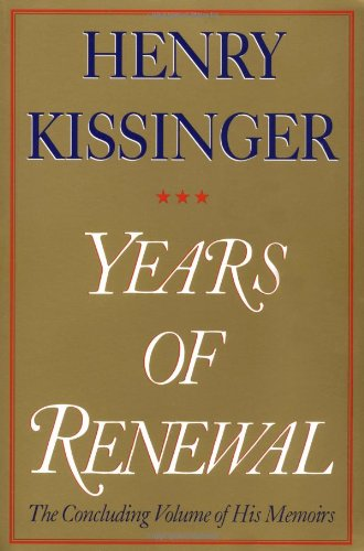 9780684855721: Years of Renewal: The Concluding Volume of His Memoirs