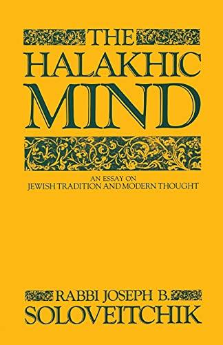 9780684863726: The Halakhic Mind