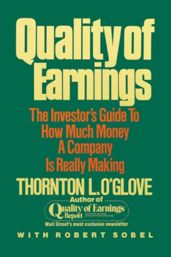 9780684863757: Quality of Earnings