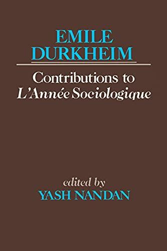 9780684863900: Contributions to L'Année Sociologique