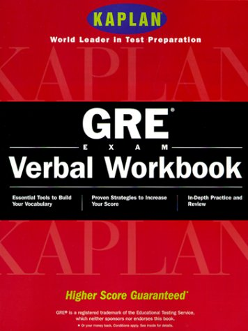 9780684868950: Kaplan GRE Exam Verbal Workbook