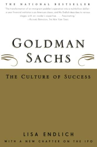 9780684869681: Goldman Sachs: The Culture of Success