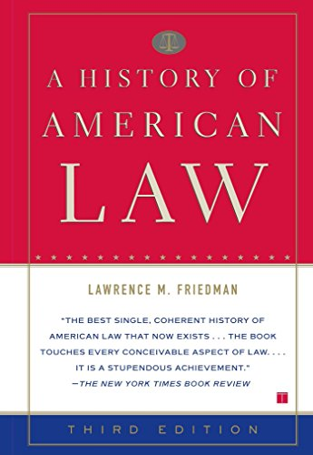 9780684869889: A History of American Law