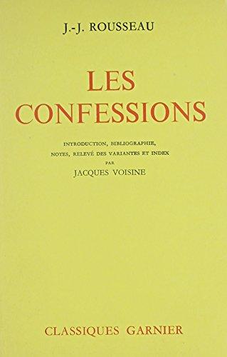 9780685111000: Les Confessions (Classiques Garnier)
