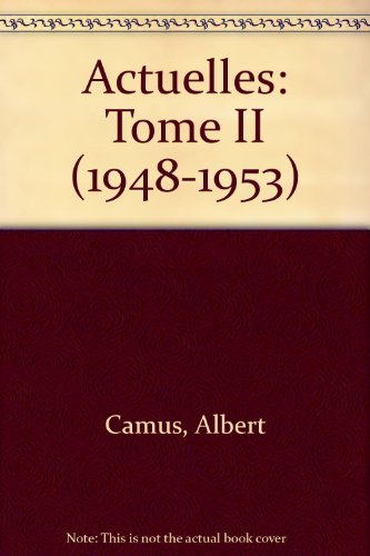 9780685372647: Actuelles: Tome II (1948-1953)