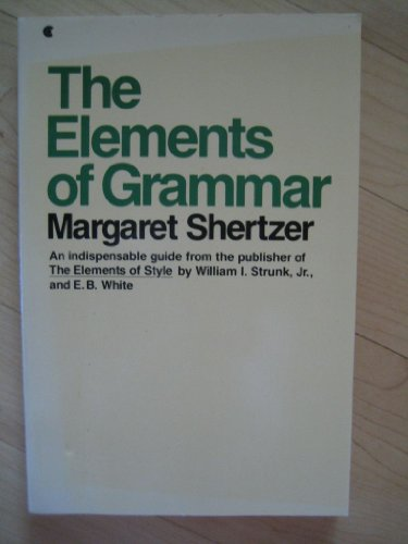 9780685462515: The Elements of Grammar