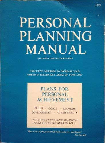 9780685577097: Personal Planning Manual